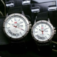 SWISS ARMY KANVAS SEPASANG BLACK COVER WHITE