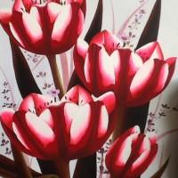 Lukisan Tulip 70x90 (Bunga Tulip) Melambangkan Kasih Yang Sempurna 2