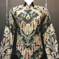 Baju Batik Kemeja Pria Baru Parang Seno Hitam Katun Pekalongan
