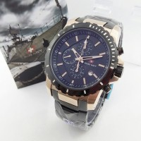 JAM TANGAN SWISS NAVY 6802 BLACKROSEGOLD ORIGINAL