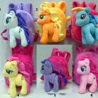 Tas Ransel Balita + Boneka Bisa Lepas Pasang My Little Pony dan Lilo &