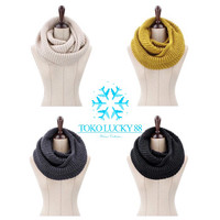 Syal wool infinity scarf