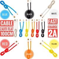 Jual Delcell Kabel Zaxti Flat 2A Fast Charging 100CM Micro Usb Garansi Murah