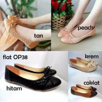 Flat Shoes Ribbon Opp38 / Flat Sepatu Pita Diskon