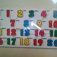 mainan edukasi puzzl kayu angka 1-20