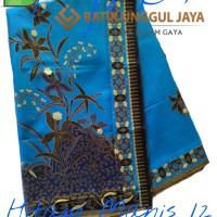 Jual Kain Batik Pekalongan Primisima Halus Hitam Manis 12 Biru Unggul Jaya Murah