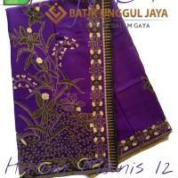 Jual Kain Batik Pekalongan Primisima Halus Hitam Manis 12 Ungu Unggul Jaya Murah