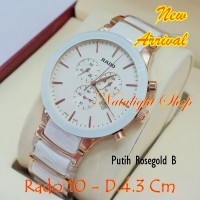 harga Jam Tangan Wanita Rado 10 Chrono Kombinasi Keramik Premium Aaa Tokopedia.com