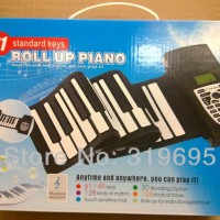 Newest 61Keys Flexible Portable Roll Up Electronic Piano Soft Silicon