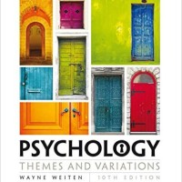 Psychology Themes and Variations 10e,Weiten