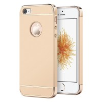 Case 3 in 1 Plated PC Frame Bumper Iphone 5 / 5S - Gold