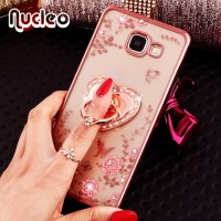 Casing Diamond Flowers Samsung A3 2016 A310 A36 / Softcase Bunga Ring