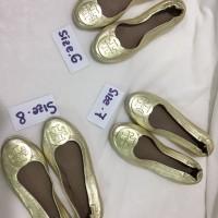 tory burch flat shoes ballet original mettalic ready