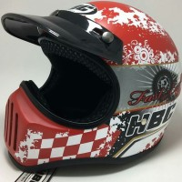 Helm Cakil Merah Fast & Easy Life Red Retro Classic Vespa CB