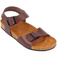 Sandal Navara Alfred Brown Leather Baru | Sandal Flat Pria Murah