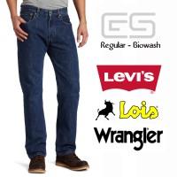 Celana Jeans Pria Regular - Biowash - Levis - Lois - Wrangler1