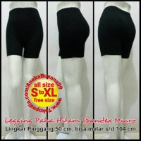 Jual Celana Legging Paha Hitam Spandex Micro   Leging Black Short Hot Pant Murah