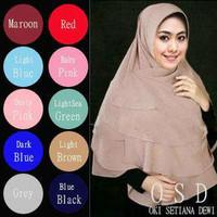 Jilbab / Hijab / Kerudung / Khimar Syari Triple Layer Oki Setiana Dewi