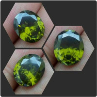 Jual BATU GREEN PERIDOT OVAL DIAMOND Murah