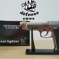 Korek Api Pistol / Lighter Jet Pietro Beretta M9 ( Replika Pajangan )