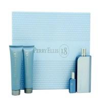 Parfum Giftset Perry Ellis 18 for Men + Hair & Bodywash + Mini + Shave