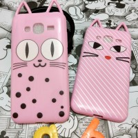 Samsung J5 J510 2016 Silicon 3D Kartun Luna Cat Ears Casing Hp