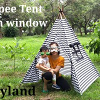 Teepee Tent Tenda Indian anak d3ngan jendela