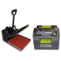 Paket Printer DTG A3 Plus Kaos Gelap Dan Mesin Press Kaos