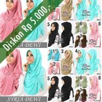 Jual Hijab/Jilbab Syria Dewi 2in1 Murah