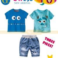 Setelan Anak Cowo/Monster Ink/Celana Jeans/New GW