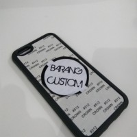 Case Sublimasi 2D iPhone 6,6s, Black Hybrid/Rubber