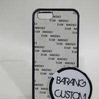 Case Sublimasi 2D iPhone 5,5s,SE Black Hybrid/Rubber