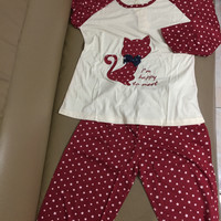 Piyama Setelan Baju Tidur Perempuan Kaos & Celana Panjang