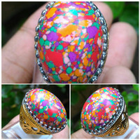 Cincin Batu Pirus Multicolor Top Quality