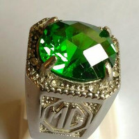 Cincin Batu Green Aquamarine High Quality