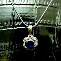 Liontin King Safir/Sapphire + Kalung Titanium