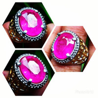 Cincin Batu Ruby Chatam Oval Cut HQ