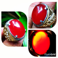Cincin Batu Red Baron Top Crystal