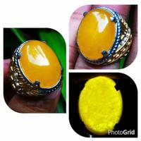 Jual Cincin Batu Giok Kuning Sunkist Top Quality Murah