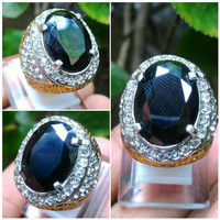 Cincin Batu Black Onyx Oval Cut