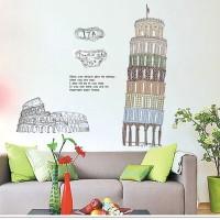 Jual Wall Sticker / Wall Stiker / Wallsticker / Dinding 49 Menara Pissa Murah