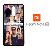 Jack Gilinsky Collage F0116 Xiaomi Redmi Note 4 Custom Case Cover