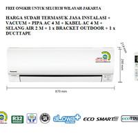 PROMO AC PANASONIC 1/2 PK LOW WATT CS-KN5SKJ (FREON R32, 320 WATT)