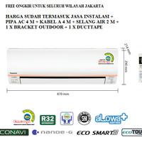 PROMO AC PANASONIC 1/2 PK LOW WATT ECONAVI CS-XN5SKJ (FREON R32, 320 W