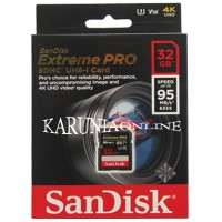 SANDISK SDHC 32GB EXTREME PRO UP TO 95MB/S