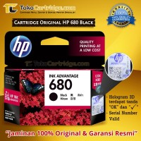 Cartridge HP 680 Black ORIGINAL catridge HP 680 1115 2135 3635 3835
