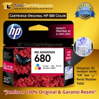 Cartridge HP 680 Color ORIGINAL Catridge HP 1115 2135 3635 3835 4535