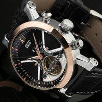 ESS Luxury Men Leather Strap Automatic Mechanical Watch - WM353