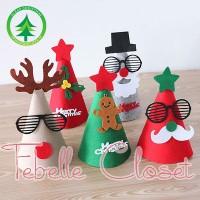 Jual Topi Natal Santa/Christmas Hat/Ornamen Pernak Pernik Hiasan Natal Murah