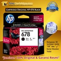 Cartridge Tinta HP 678 Black ORIGINAL Catridge HP 1515 2515 2645 4515